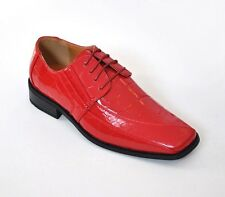 Men's Oxfords Faux Leather Croco-Embossed Dress Shoes #5733 Red 8.5-16