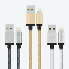 Apple MFI Lightning to USB Date Charger Cable Nylon Braided Aluminum Tips iOS7 8