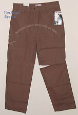 ZIP-OFF PANTS to Shorts FLW Outdoors Tournament Quality Gear Fishing BROWN NWT