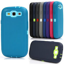 Shockproof Heavy Duty Defender Rugged Hard Back Case Cover For Samsung Galaxy S3