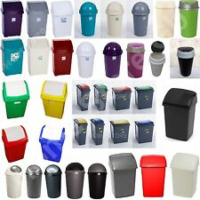 New Plastic Bins Bullet Swing Recycling Touch Top Bin Waste Rubbish Kitchen Bin