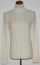 CROFT & BARROW~Petite Ivory Mock Neck Cable Knit Sweater~ PXS, PM, PL, PXL ~NWT