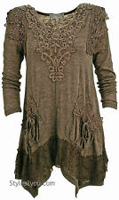 Pretty Angel Clothing Lola Tunic In Ecru 10770EC