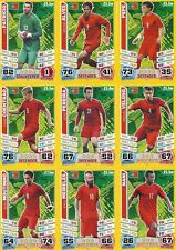 Match Attax England 2014 World Cup Trading Cards (PORTUGAL-Base) 186-196