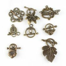 Retail Plated Retro Bronze Charms 10 Styles Key Alloy Pendants Necklace Findings
