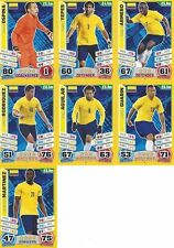 Match Attax England 2014 World Cup Trading Cards (COLOMBIA-Base) 56-62