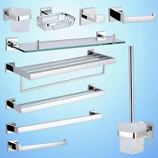 Bathroom Accessories Towel Rail Rack Shelf Toilet Brush Tissue Roll Robe Hook