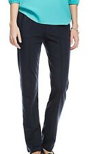 EX M&S Classic Ladies Straight Leg Side Pocket Ponte Pull on Trousers 4 Colours