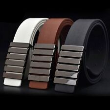 Quality Unisex Man Women Simple Buckle Leather Formal Waist Strap Belt Fashion