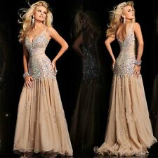 2014 Champagne Applique Evening Formal Prom Party Cocktail Dresses Wedding Gown