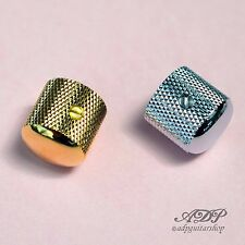 2x BOUTONS METAL GOTOH TELE DOME KNOBS 18x18mm for SplitShaft Pots 6mm SmallGrip