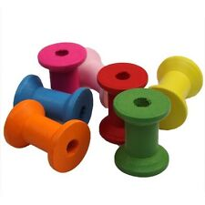 Hotsale New Colorful Wooden Bobbins Spools Fit Sewing Ribbon Twine String Charms