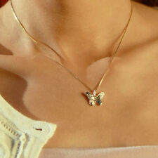 Butterfly Pendant Necklace 18k Vermeil Gold Woodland Jewelry