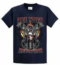 Ride Tough Biker Printed Tee Shirt for Men in Big and Tall Sizes and Regular
