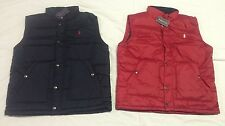 NWT Polo Ralph Lauren Mens Pony Full Zip Puffer Vest Jacket Navy or Red