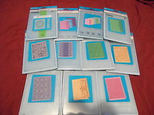 Cuttlebug 5 x 7 embossing folders you chose the ones you want, new in package