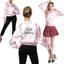 PINK LADIES JACKET LADY OFFICIALLY LICENSED GREASE FANCY DRESS PARTY COSTUME UK