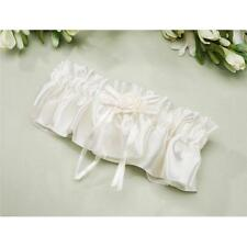 SATIN GARTERS - Rose with Ribbon Embellishment for the special day