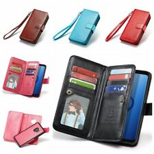 Removable Magnetic PU Leather Flip Wallet Case Cover F Samsung Galaxy Note4 S5 6