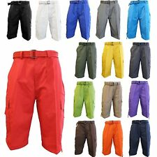 Men's Cargo Shorts With Belt Cotton Twill 100% COTTON 15 Colors Size 32~44
