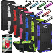 Heavy Duty Hybrid Hard Impact Case Cover For LG Ultimate 2 L41C Tracfone NET10