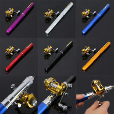 Mini Portable Telescopic Pocket Pen Fishing Rod Aluminium Alloy Pole Reel 6001