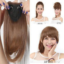 Pretty Girls Clip On Clip In Front Hair Bang Fringe Hair Extensions Straight L13