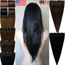 New Fashion 100% Real Best Clip In Remy Human Hair Extensions One Piece DIY F489