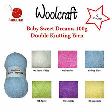 Woolcraft Sweet Dreams DK Baby Double Knitting Wool Yarn, 100g, 6 Shades