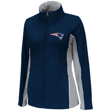 NFL Team New England Patriots Navy Womens Game Theory Full Zip Fleece Jacket