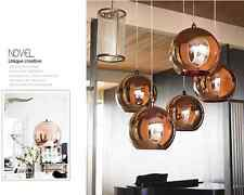 Simple Design Rose Gold Color  Glass Ball Ceiling Pendant Lamp Light Home Decor