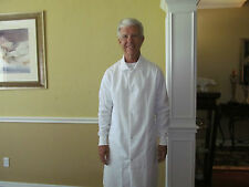 "Unisex Cotton Blend White Medline Snap front w/ cuff Length 40"" for 9.00ea."