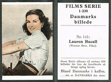 Denmark: Danmarks Coffee - Films Serie 1948 Movie Star Tobacco Cards List #2