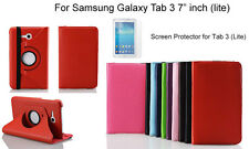 """360°Rotation case for Samsung Galaxy Tab 3 Lite VE 7"""" inch/Screen Protector"""