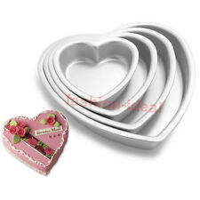 "3"" 4"" 5"" 3D Heart Aluminum Cake Chocolate Pan Baking Tin Wedding Party Mold #T"