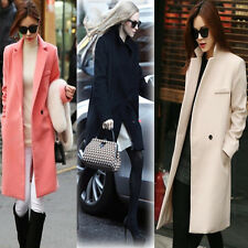 Winter Warm Faux Cashmere Women Long Coat Lady Wool Suit Parka Outwear Coat New