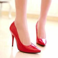 Womens Ladies Pumps High Heel stiletto candy Pointy Toe Pull On Shoes all Size