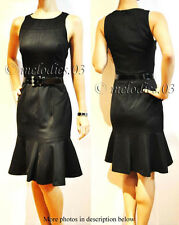 BNWT CUE dress w flared hem & wide belt Sz 6 $199-$235