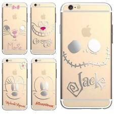 Disney Cartoon Silver Chrome Plated Clear Soft Rubber Case For iPhone 6 / 6 Plus