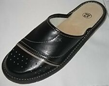Mens Leather Slippers Size UK 8,9,10,11