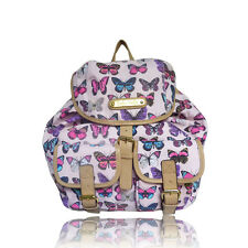 Cream Butterfly Anna Smith NY backpack Girls school College RUCKSACK Great gift