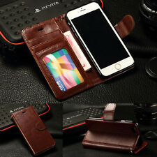 NEW Luxury Flip Cover Wallet Case For iPhone 6 & 6 Plus iPhone 5S 5 iPhone 4S 4