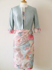 25700A JOHN CHARLES LACE TRIM MOTHER OF BRIDE DRESS & JACKET RRP £759 SAVE 30%