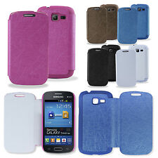 PU Leather Flip Case Cover For Samsung Galaxy Trend Lite S7390/S7392