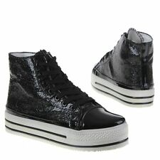scarpe SNEAKERS donna SHOES SCARPONCINO nero SCP057