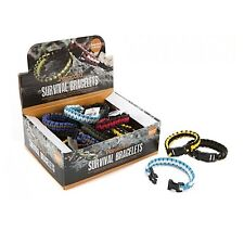 Survival Paracord Bracelet Outdoor Buckle Cord Wristband Camping