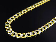 "Real 10K Yellow Gold Solid Diamond Cut Cuban Link Chain Necklace 18-30"" (4.5MM)"
