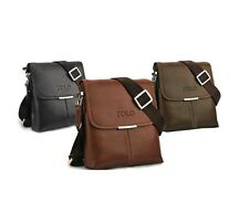 2015 Men's Unisex Fashion Leather Shoulder Messenger Bags Handbag Briefcase Polo