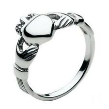 New Small Solid Silver Celtic Irish Claddagh Ring Celtic Jewellery Gift Boxed