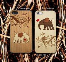 Malaysia Arch Wooden 3D Elelphant Iphone 5 / 5s Case Protect Cover Frame